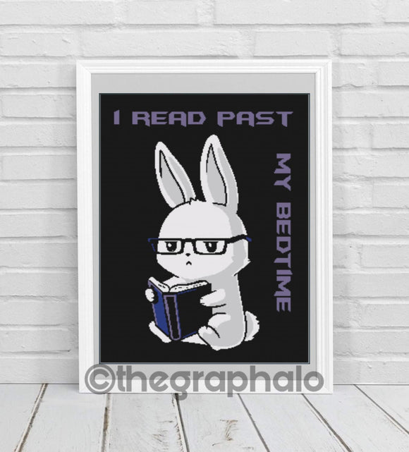 Bad Bunny: Book Bunny Crochet Graphghan Pattern SC 240 x 340