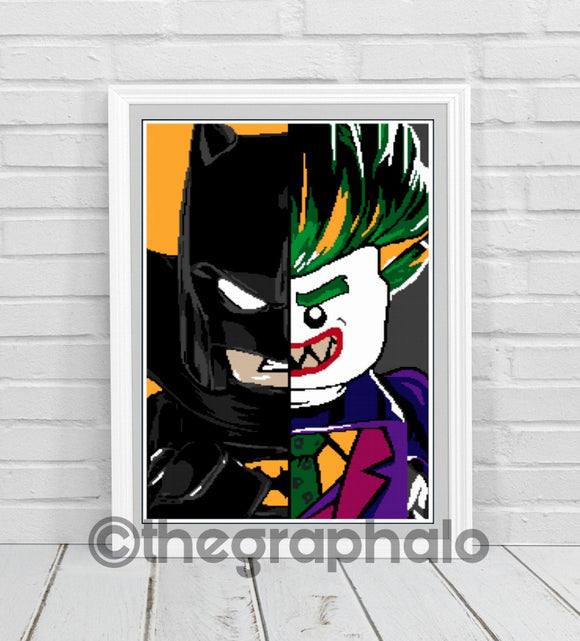Batman Vs. Joker Crochet Graphghan Pattern DC 180 x 280