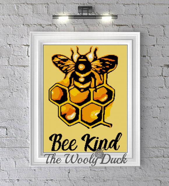 Bee Kind Crochet Graphghan Pattern