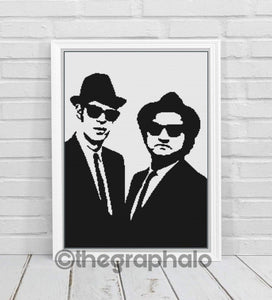 Blues Brother Crochet Graphghan Pattern