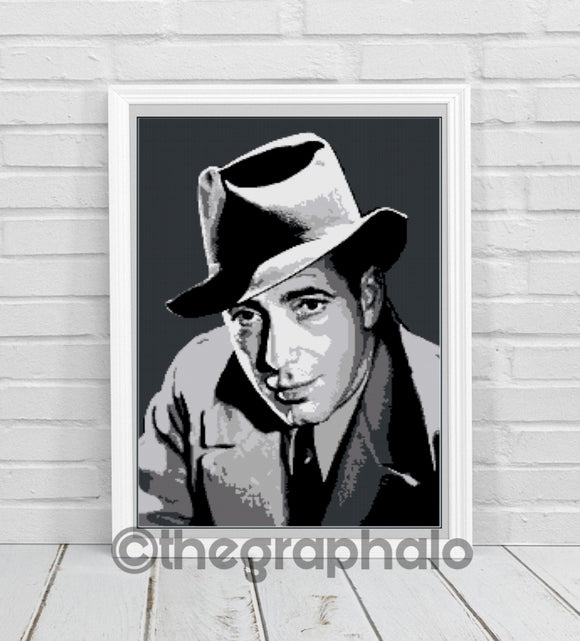 Humphrey Bogart Crochet Photoghan Pattern