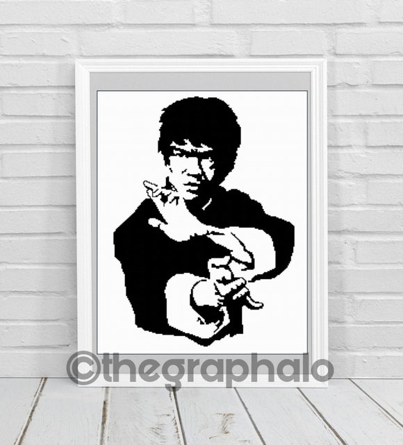 Bruce Lee Crochet Graphghan Pattern SC 180 x 240