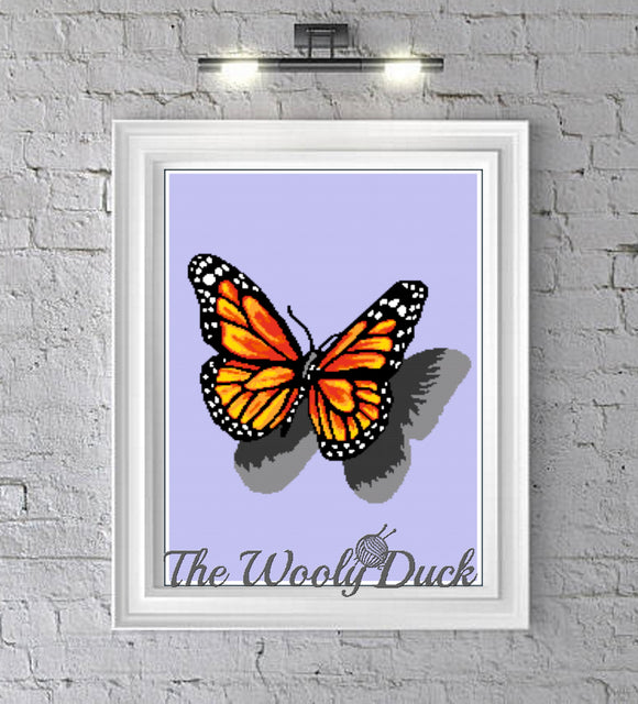 Beautiful Monarch Butterfly Crochet Graphghan Pattern