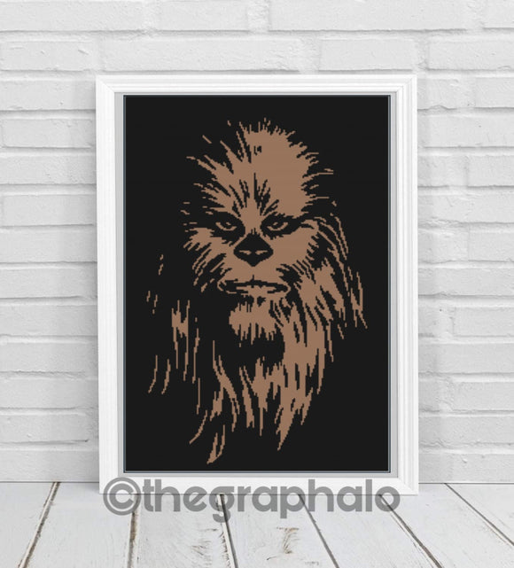 Cross Stitch Chewbacca Pattern