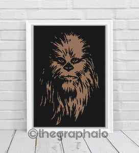 Chewbacca Crochet Graphghan Pattern