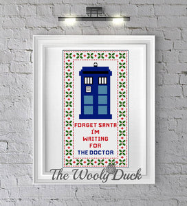 Cross Stitch Christmas TARDIS Pattern