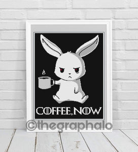 Bad Bunny: Coffee, Now! Crochet Graphghan Pattern SC 180 x 260