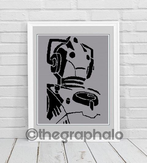 Cyberman Crochet Graphghan Pattern