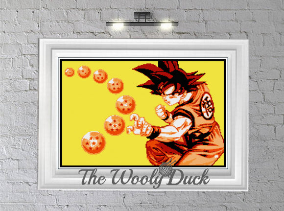 Dragon Ball crochet graphghan pattern for sc