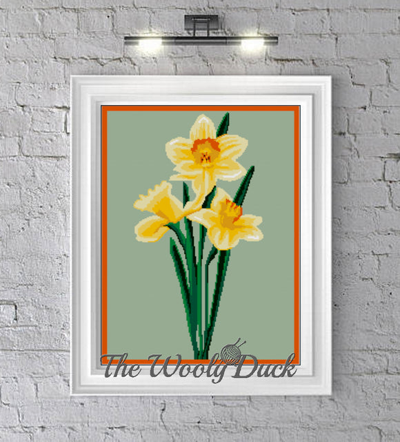 Daffodils crochet graphghan pattern