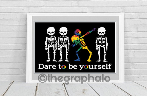 Dare To Be Yourself Crochet Graphghan Pattern SC 240 x 180