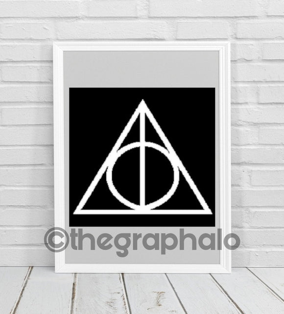 Deathly Hallows Crochet Graphghan Pattern SC 200 x 200