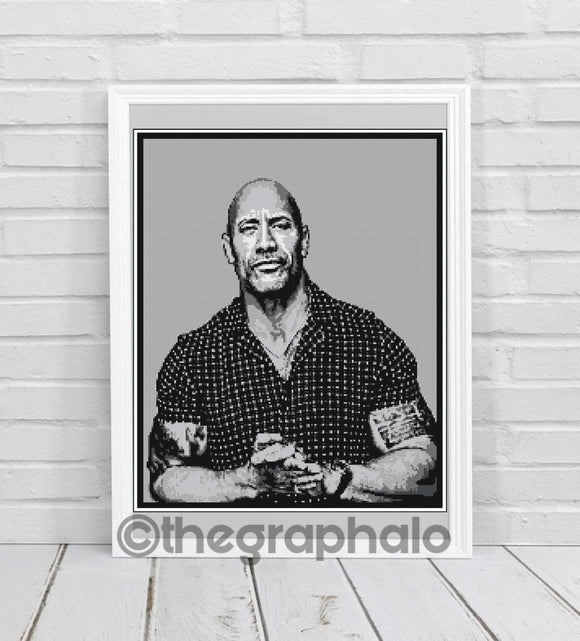 Dwayne 'The Rock' Johnson Crochet Graphghan Pattern SC188x240