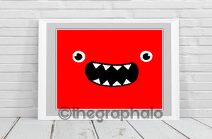 Friendly Monster Crochet Graphghan Pattern SC 200 x 240