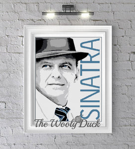 Frank Sinatra crochet graphghan pattern for sc , cross stitch, knitting, diamond painting