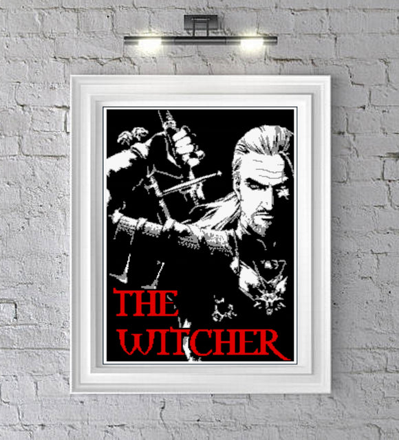 The Witcher Graphghan Crochet Pattern SC 190 x 280