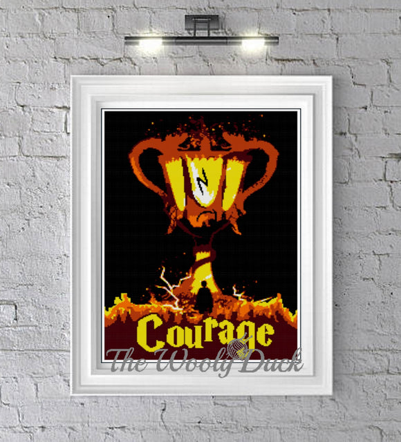 Goblet and Courage  graphghan pattern for single crochet/cross stitch/ diamond painting