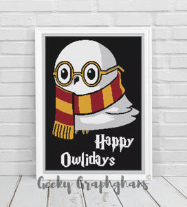 Happy Owlidays Crochet Graphghan Pattern