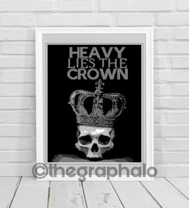 Heavy Lies The Crown Crochet Graphghan Pattern SC 170 x 230