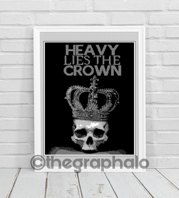 Heavy Lies The Crown Crochet Pattern SC 170 x 230