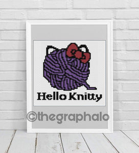 Hello Knitty Crochet Pillow Pattern