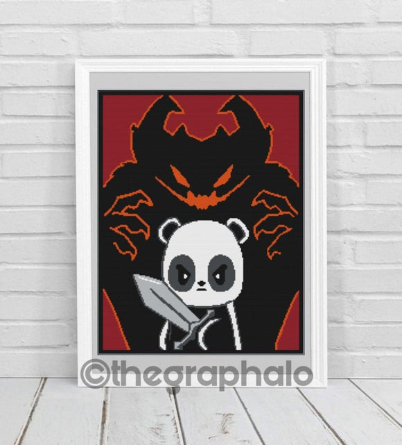 Hero Panda Crochet Graphghan Pattern