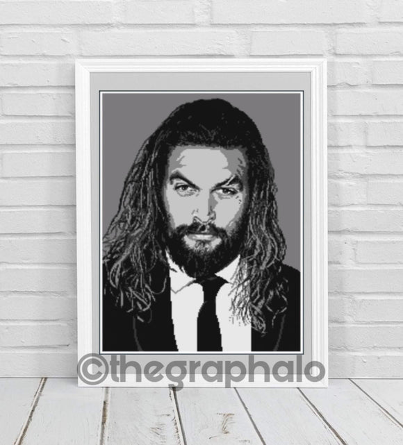 Jason Momoa Crochet Graphghan Pattern Cross Stitch