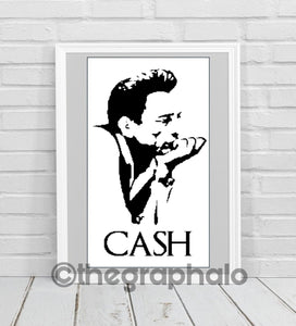 Johnny Cash Crochet Graphghan Pattern SC 160 x 300