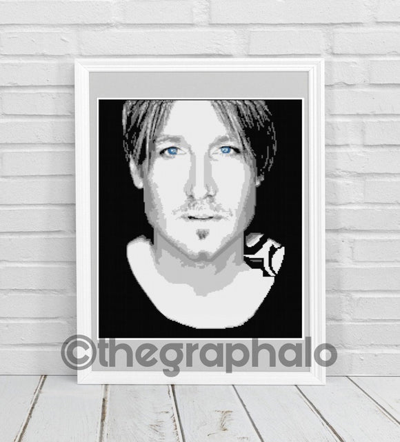 Keith Urban Inspired Photoghan Crochet Pattern SC 180 x 240