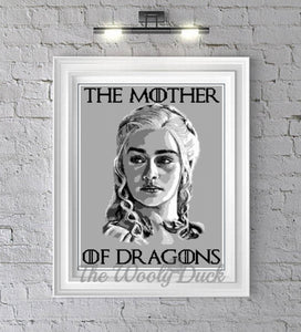 Mother Of Dragons Khaleesi, Game of Thrones inspired crochet graphghan pattern