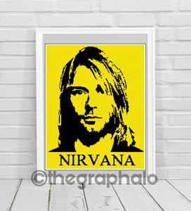 Kurt Cobain Self Portrait Inspired Crochet Graphghan Pattern SC 180 x 240