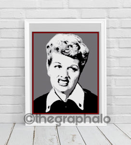 Lucille Ball Crochet Photoghan