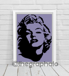 Marilyn Monroe Mini C2C Graphghan Pattern
