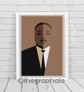 Martin Luther King Jr. Crochet Graphghan Pattern SC180 x 280