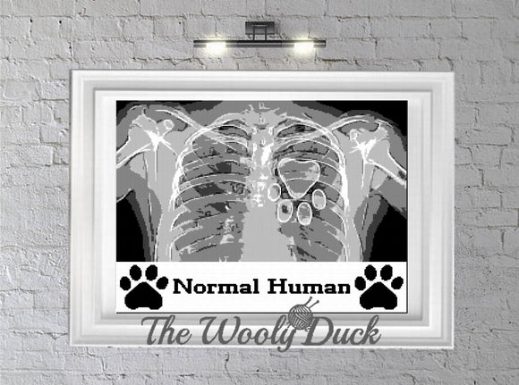 Normal Human Crochet Graphghan pattern for sc, cross stitch or diamond painting
