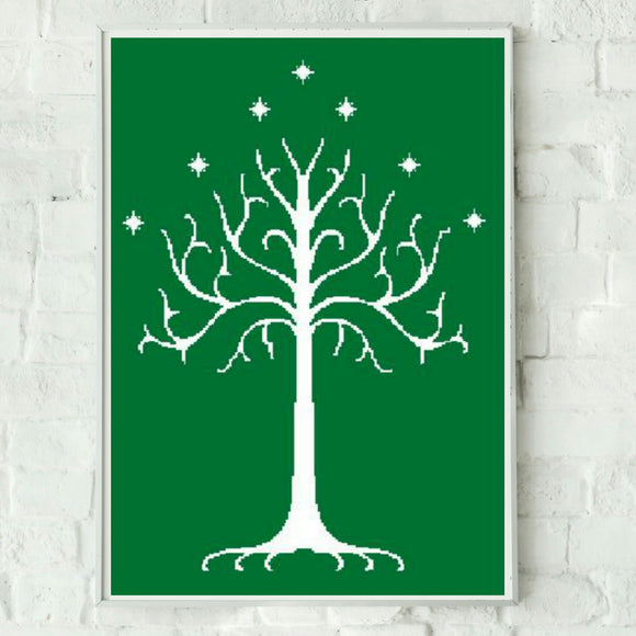 The White Tree of Gondor Graphghan Crochet Pattern SC 200 x 300