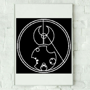 Doctor Who Circular Gallifreyan Script Crochet Pattern