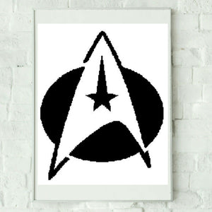 Star Trek Inspired Graphghan Crochet Pattern SC 200 x 255
