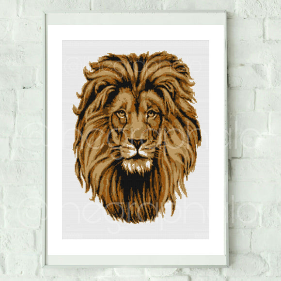 Lion's Head Graphghan Crochet Pattern SC 190 x 240