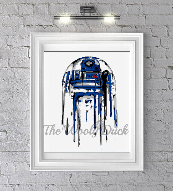 R2D2 Cross Stitch Pattern