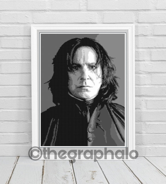 Alan Rickman as Severus Snape Portrait Crochet Photoghan Pattern