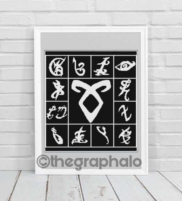 Shadow Hunter Runes Crochet Graphghan Pattern