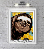 Sloth in Sunflowers Crochet Graphghan Pattern