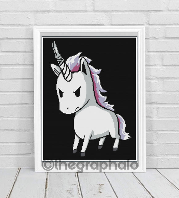 Stabby The Unicorn Crochet Graphghan Pattern SC 180 x 260