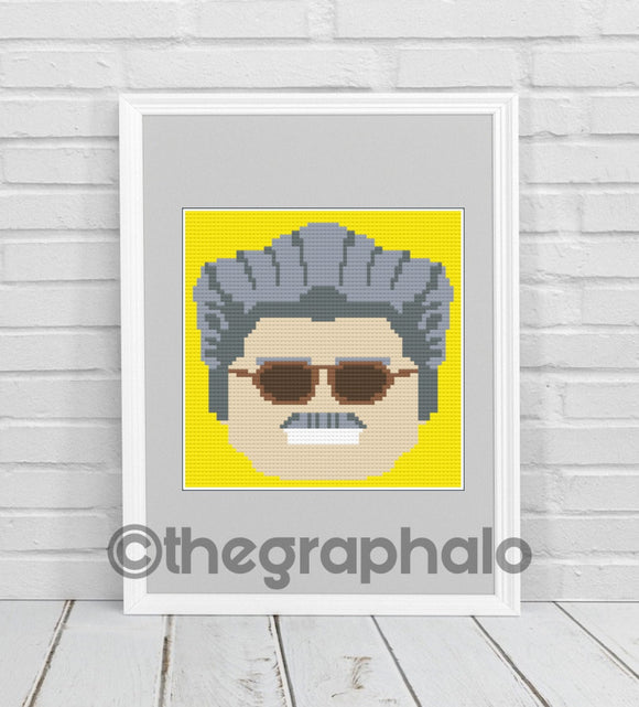 Lego Head Stan Lee Pillow Square SC 70x70