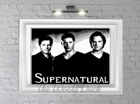 Supernatural Trio crochet graphghan pattern