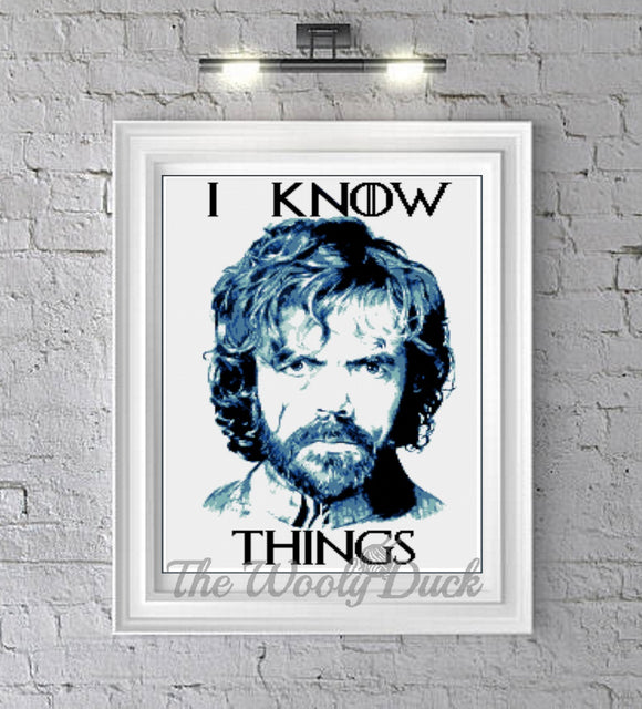 I know Things , Tyrion Lannister inspired graphghan pattern
