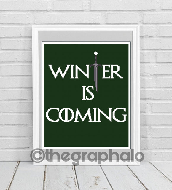 Winter Is Coming Crochet Graphghan SC 180 x 240