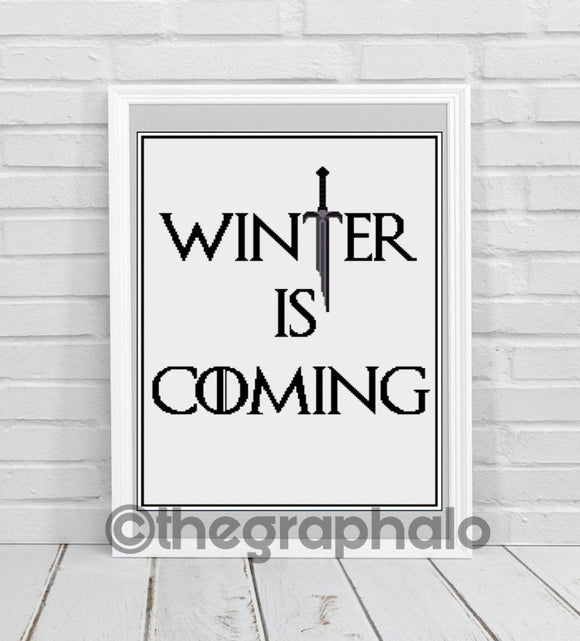 Winter Is Coming Crochet Graphghan Pattern SC 180 x 240