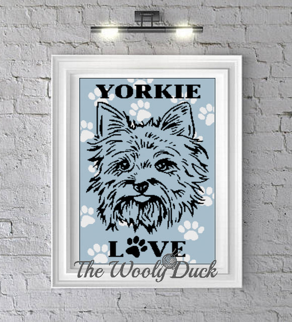I love my Yorkie crochet graphghan pattern